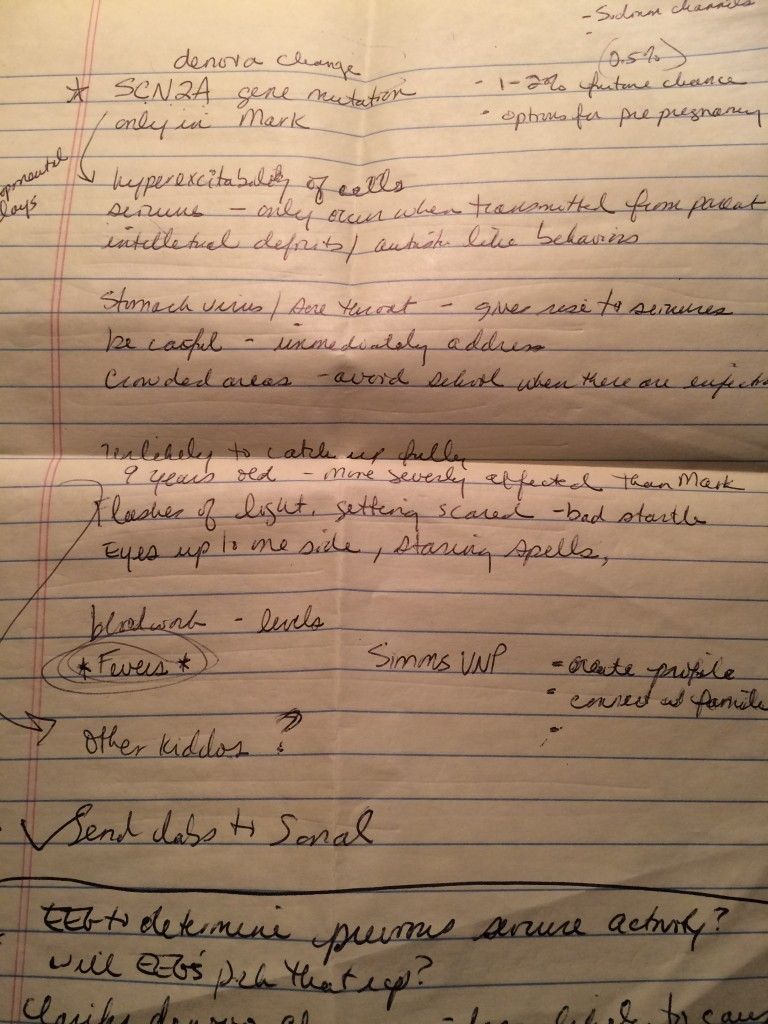 Notes I took during the genetics call